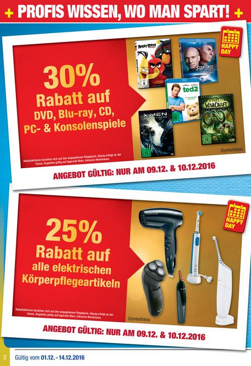 30% Rabatt auf Dvd,Blu Ray,Cd und Videospiele am 9.12&10.12 bei Metro