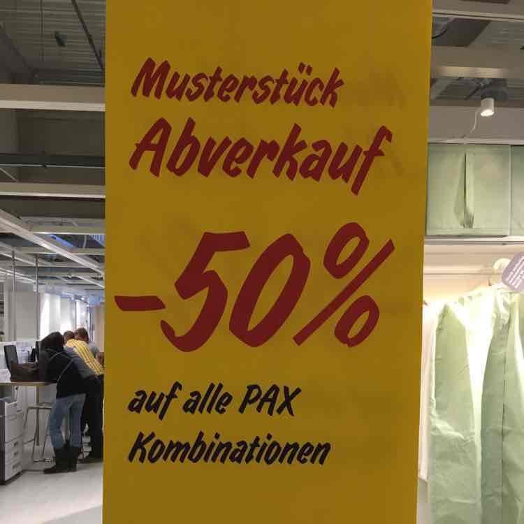 (IKEA Graz) -50% auf alle Pax Musterstück Kombinationen