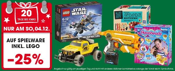 Libro: 25% Rabatt auf Spielwaren (inkl. Lego) - nur am 4. Dezember