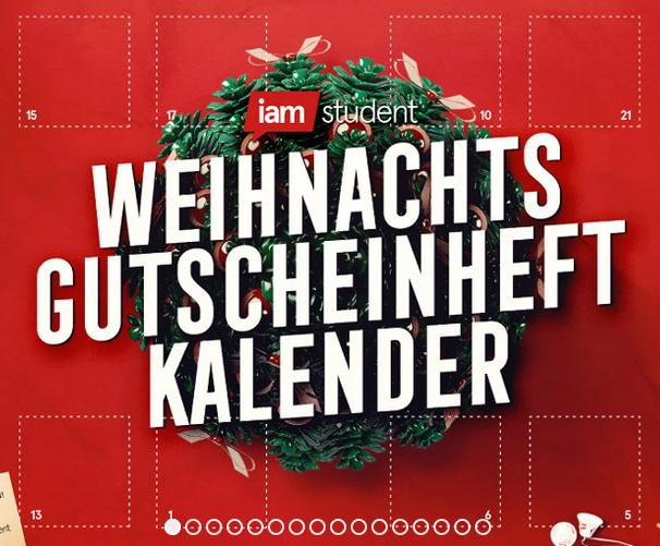 """24 Gutscheine im Adventkalender (inkl. Gutscheinheft  - tw. auch für """"nicht Studenten"""")"""