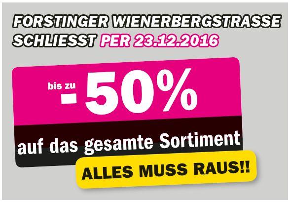 [Forstinger] Wienerbergstrasse schliesst - Abverkauf bis -50%