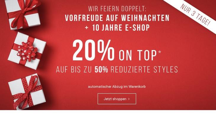Tom Tailor: 20% Extra-Rabatt auf reduzierte Artikel - bis zum 10. Dezember