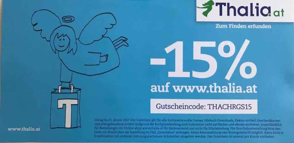 Thalia Online Shop -15% bis 31.1.2017