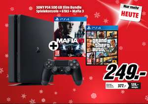 Playstation 4 Slim 500GB + GTA V + Mafia 3 OFFLINE MediaMarkt AT