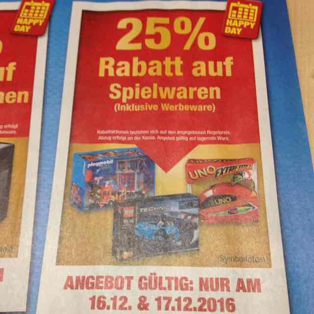 -25% auf Spielwaren bei Metro