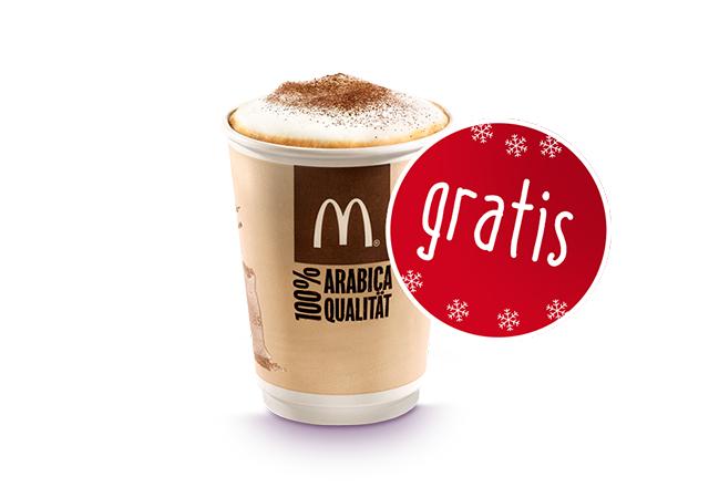 [McDonalds] Adventkalender Tür 14:     Heißgetränk Classico nach Wahl GRATIS