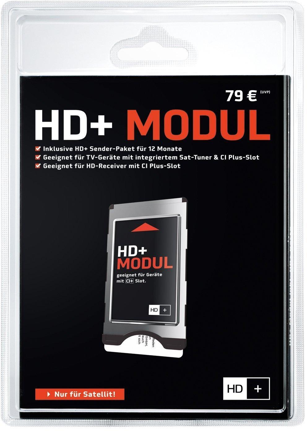 [www.AMAZON.de]  HD PLUS CI+ Modul für 12 Monate (inkl. HD+ Karte, bedingt geeignet für UHD, nur für Satellitenempfang)  statt UVP € 79,-- ab nächstes Jahr werden die Karten 10 EUR teurer !