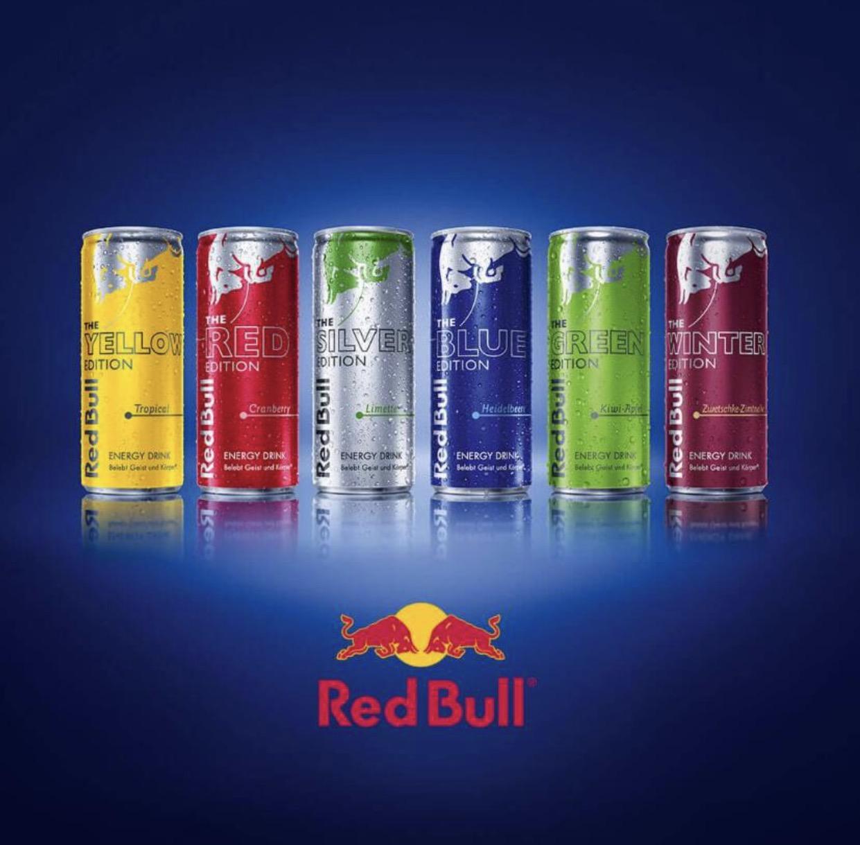 Marktguru App: 10x 0,50 € Cashback auf Red Bull Editions - bis 8.1.2017