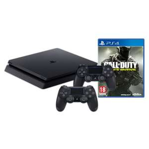 Libro - PlayStation 4 SLIM Konsole, 1TB, schwarz - inkl. Call of Duty: Infinite Warfare + 2 Controller