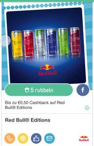 Rublys App: 0,50 € Cashback auf Red Bull Editions - bis 8.1.2017