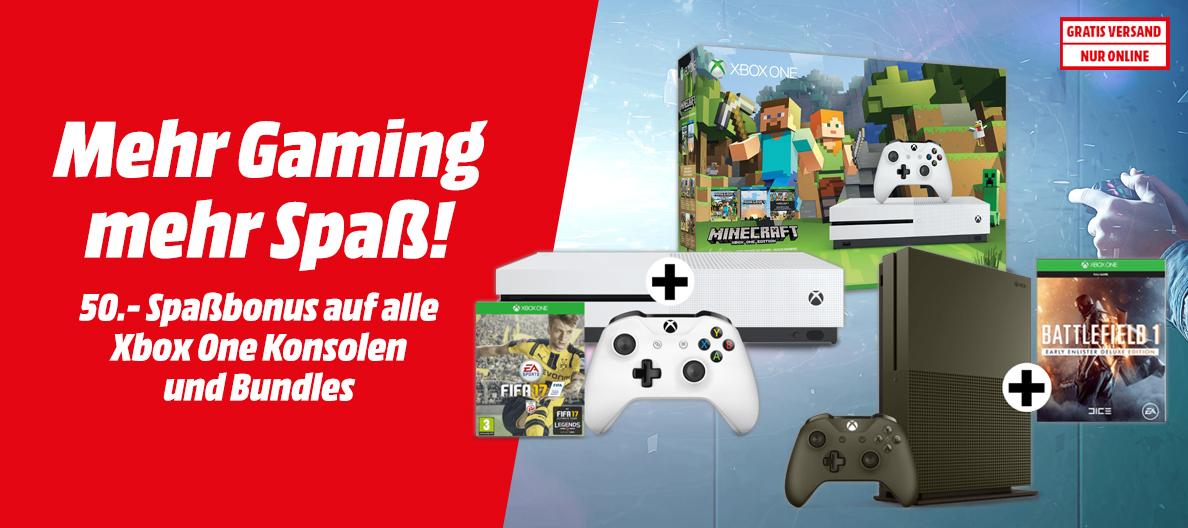Media Markt: 50€ Rabatt auf Xbox One S Bundles - u.a. mit FIFA 17 Bundle (500GB) für 189€