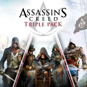 [PSN/PS+] Assassin's Creed Triple Pack: Black Flag, Unity, Syndicate für 29,99€ - ( bzw 27,90€ mit Guthaben)
