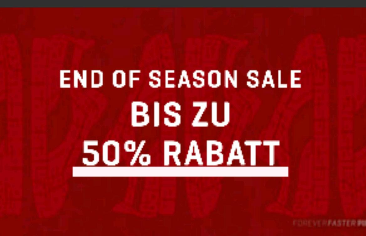 Puma End of Season Sale bis zu 50 Prozent