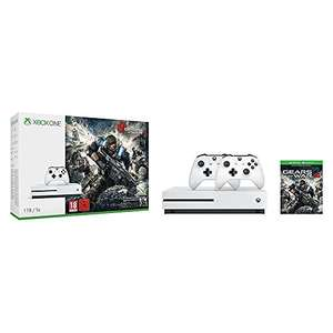 Amazon: Xbox One S 1TB Konsole - Gears of War 4 Bundle + 2. Controller für 279€