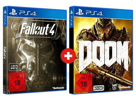 GameStop: Fallout 4 + Doom (PlayStation 4) für nur 29,99€