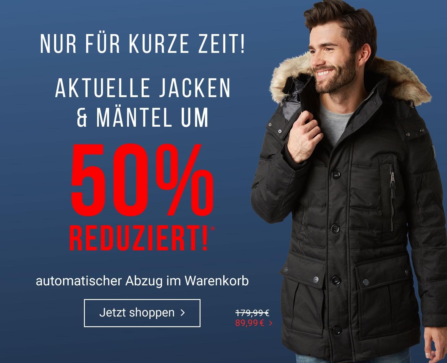 Tom Tailor: 50% Rabatt auf aktuelle Jacken & Mäntel - nur bis zum 1. Jänner