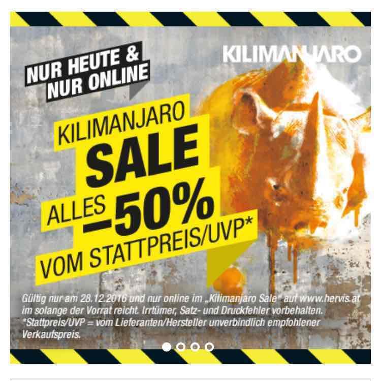 Hervis - Kilimanjaro Sale -50% auf ALLES