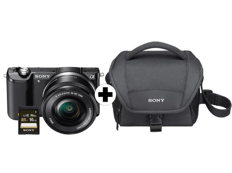 [www.MediaMarkt.de] SONY Alpha 5000 Sonder Kit Systemkamera 20.1 Megapixel mit Objektiv 16-50 mm f/5.6, 7.5 cm Display  für € 299,-- zzgl Versand via Logoix nach Österreich