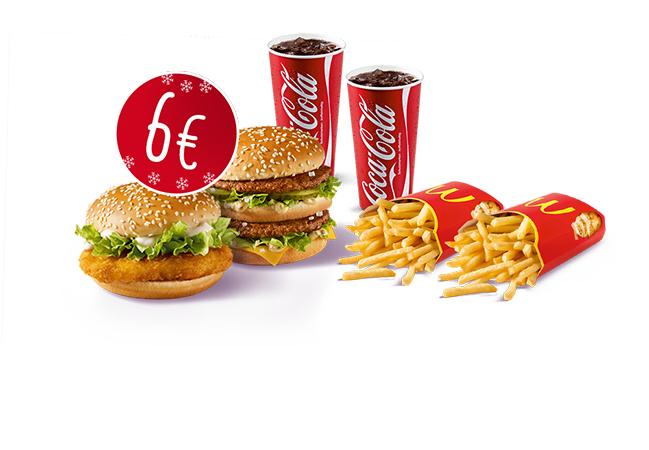 2x Big Mac oder McChicken + große Pommes + Softdrink 0,5 L um 6,00 €