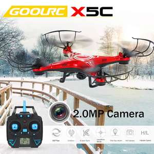 GoolRC X5C 2.4GHz 4CH 6-axis Gyro 2.0MP HD Camera RC Quadcopter with One Key Return CF Mode 360° Eversion Function Versand aus Deutschland, kein Zoll