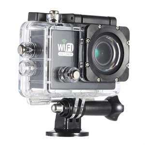"Action Cam SJ6000 Full HD Wifi (schwarz) Action Sports Camera DV Cam 2.0"" LCD 12MP 1080P 30FPS 140 Degree Wide Lens Waterproof for Car DVR FPV PC Camera Diving Bicycle Outdoor Activity"