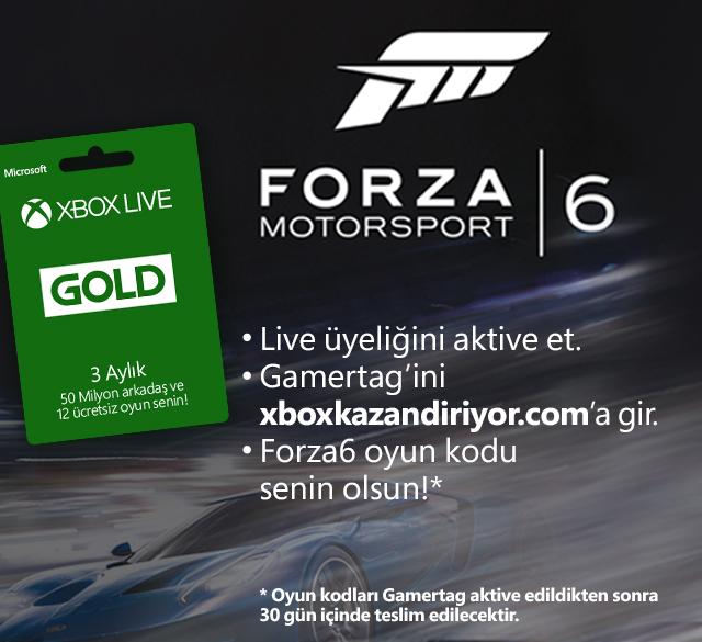 Xbox Live: Forza 6 (Xbox One) komplett kostenlos für Gold Mitglieder (?) - nur heute gültig!