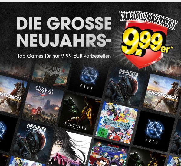 GameStop: Game-Highlights von 2017 für nur 9,99€vorbestellen - gültig bis zum 23. Jänner