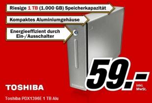 Externe Festplatte 1TB von Toshiba für 59€ bei Media Markt Deutschland