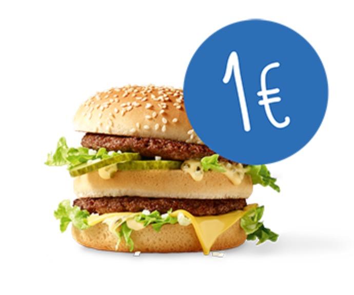 McDonald's BigMac um 1 € - 1x pro Kunde - bis 8.1.2017