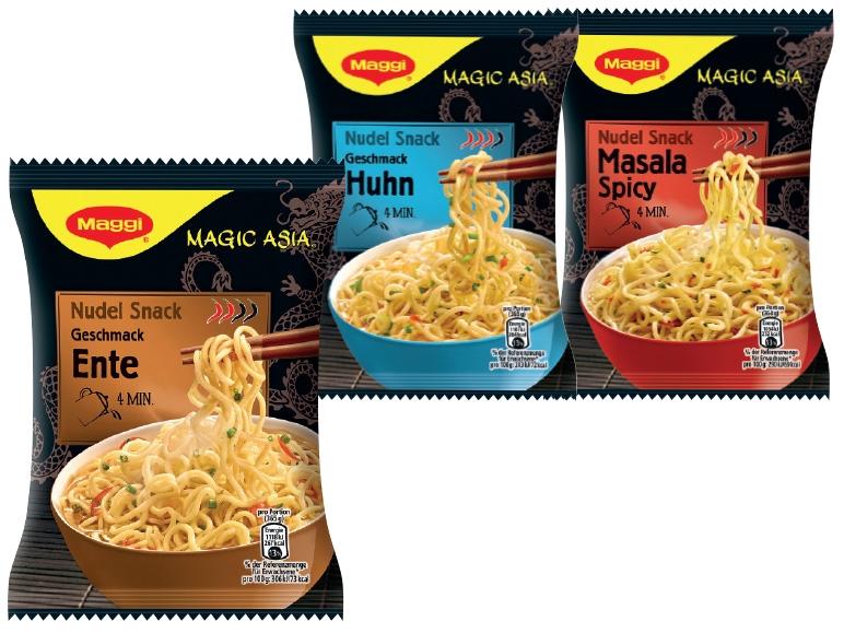 Maggi Asia Instant Nudeln für € 0,02 bei Lidl mit Marktguru-Cashback