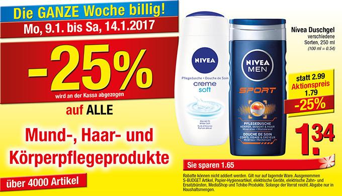[Maximarkt] -25% auf alle Mund-, Haar und Körperpflegeprodukte