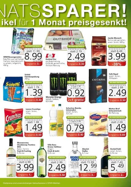 [Spar] Monster Energy versch. Sorten - ab 3 Dosen je 0,92€