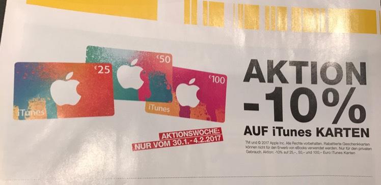 -10% auf iTunes Karten