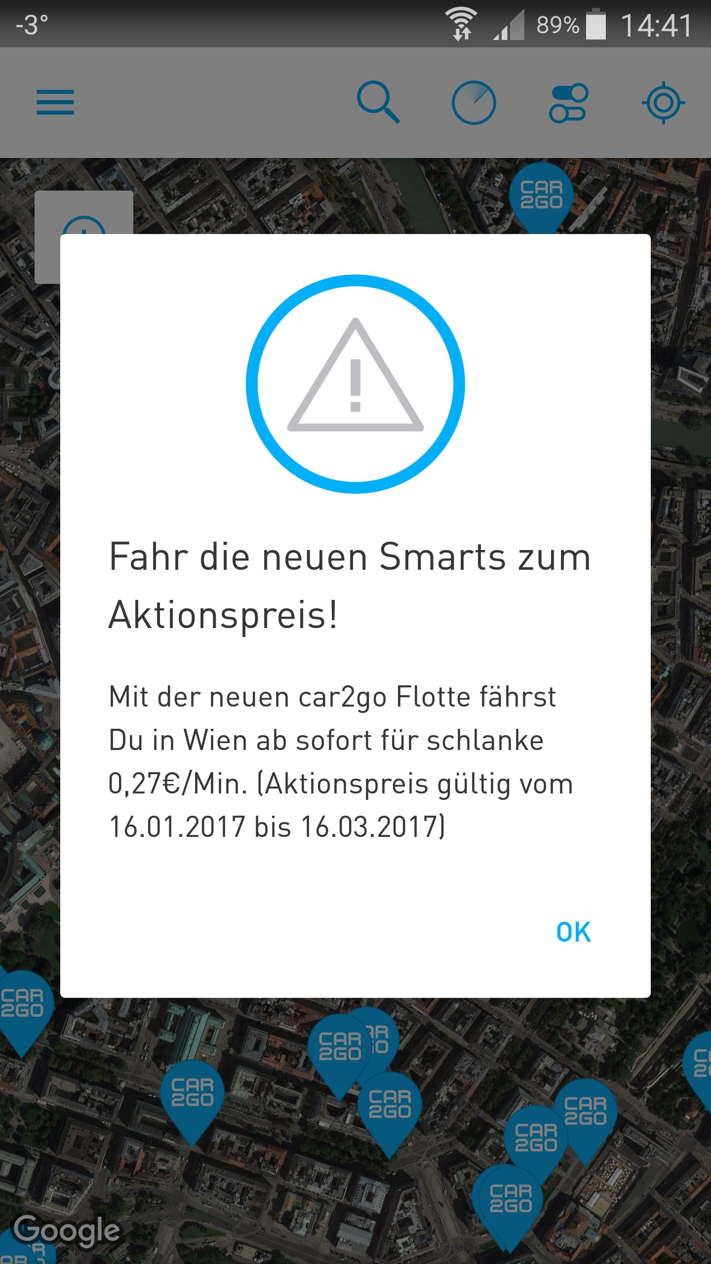 """Car2go Aktionspreis für """"0,27 €"""" die Minute fahren!"""