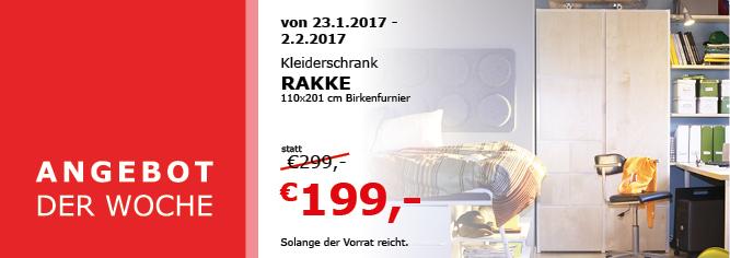 "[Ikea Klagenfurt] Aktion: Kleiderschrank ""Rakke"""