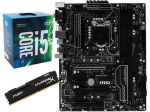 [Saturn.at] Intel i5-7400 + MSI B250 PC Mate + HyperX Fury 8GB DDR4, 2133 MHz für 328€