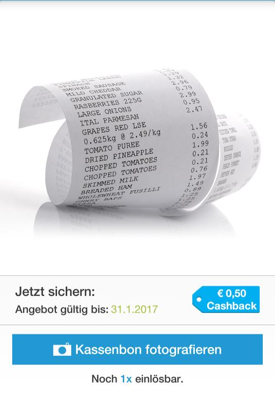 0,50€ Cashback auf jede Rechnung [für Neukunden]