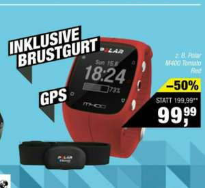 Polar M400 red inkl. Brustgurt