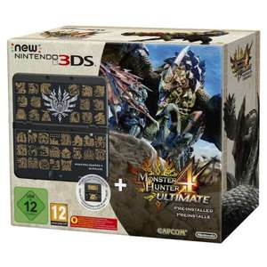 Libro: Nintendo New 3DS Grundgerät, Monster Hunter 4 Ultimate Bundle für 149€