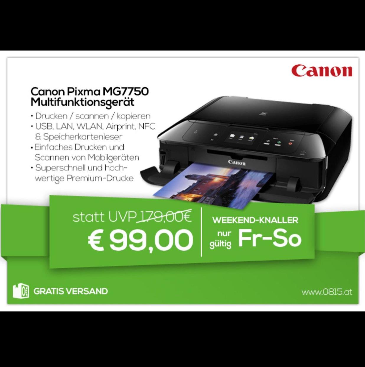 Canon Pixma MG7750 Multifunktionsgerät