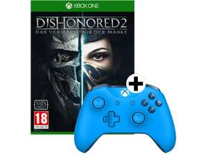 MICROSOFT Xbox Wireless Controller blau + Dishonored 2 (Lim. Metal Plate Edition) [MediaMarkt]