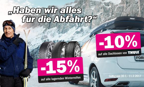 [Forstinger] div. Aktionen z.b. Winterreifen -15% / Alufelgen -55% uvm.