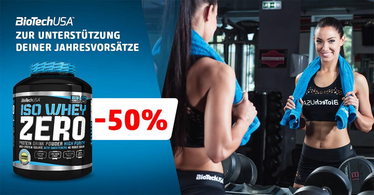 [BioTechUSA SCS-Shop] -50% auf Iso Whey Zero NUR AM 01.02.2017