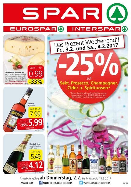 Aperol 0,7l um 5,99€ heute(04.02.) bei SPAR