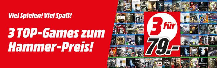 3 Games zum Preis von 79 €