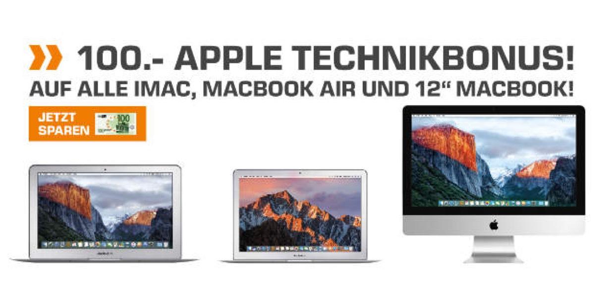 """100€ Abzug auf iMac, MacBook Air und 12"""" MacBook Modelle"""