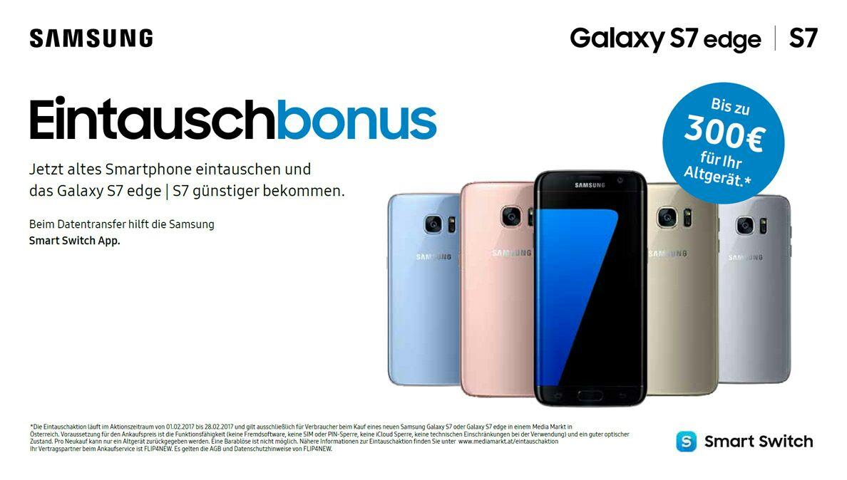 [mediamarkt] Eintauschaktion (Bonus von bis zu 300€) für Galaxy S7 oder S7 Edge