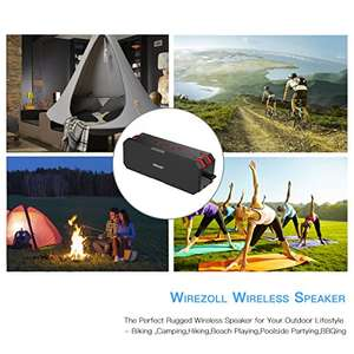 Bluetooth Lautsprecher, Wirezoll Wasserdicht 12W Speaker mit 5200mAh Batterie statt 39,99