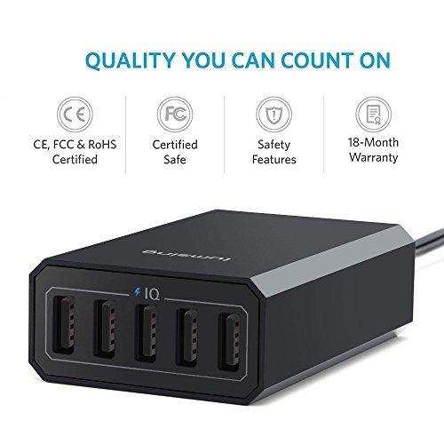 Lumsing 5-Port USB Ladegerät (40Watt) -70% bis 20 Uhr