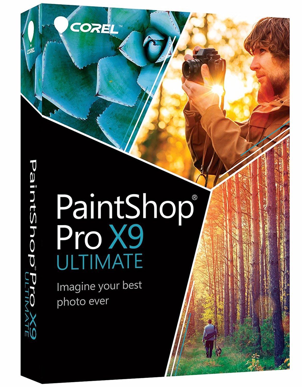 "Corel PaintShop Pro X9 Ultimate (inkl. FastFlick Instant Slideshow Maker & Kreativpaket ""Winterwunderland"" gratis) für 12,99€ statt 56,21€"